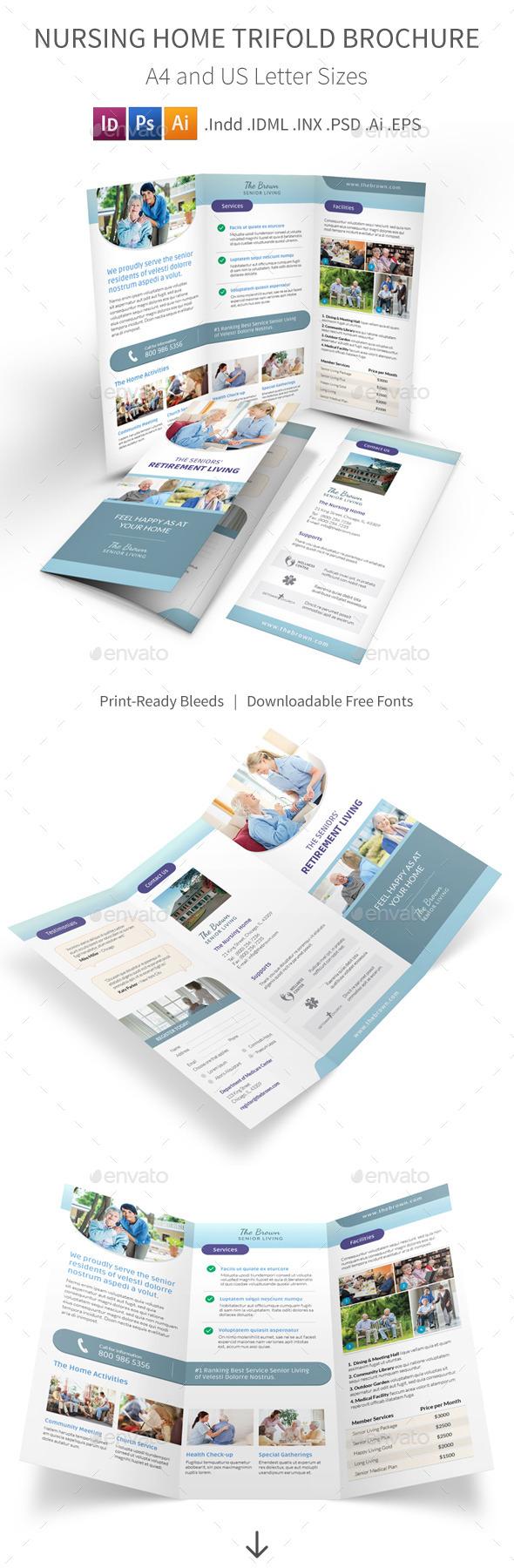 Nursing Home Trifold Brochure - Informational Brochures