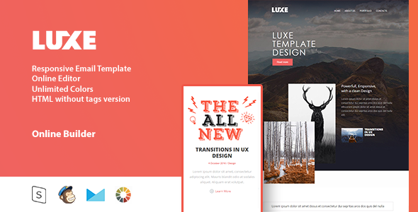 LUXE – Responsive Email Template + Online Editor
