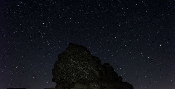 The Sphinx Of Bucegi Night With Clear Sky