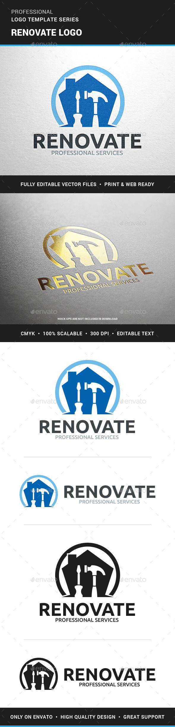 Renovate Logo Template - Objects Logo Templates