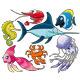 Marine life. - GraphicRiver Item for Sale