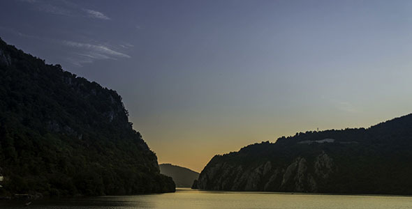 Sunrise Over The Danube Gorges Cazanele Mici