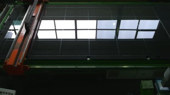 Machine Cutting of a Glass Cutting of Sheet