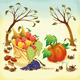 Fruit and vegetables in Autumn. - GraphicRiver Item for Sale