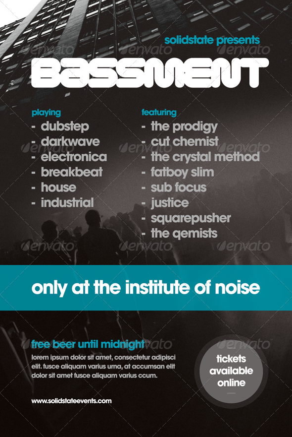 Bassment - Flyer Template - Clubs & Parties Events