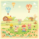 Baby farm animals in the countryside - GraphicRiver Item for Sale