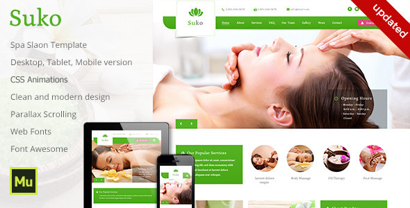 Suko - Spa Salon Template