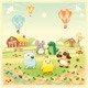 Baby farm animals in the countryside.  - GraphicRiver Item for Sale
