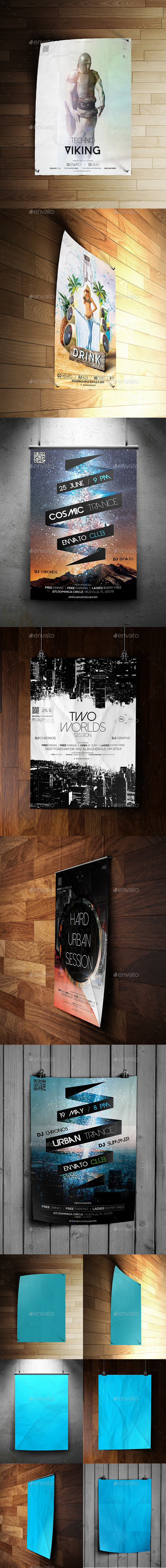 A4 Flyer & Poster Mockups - Posters Print