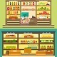 Supermarket Shelves with Food and Drink - GraphicRiver Item for Sale