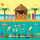Tropical Beach with a Bar on the Beach - GraphicRiver Item for Sale