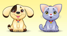 PET, CARTOON ANIMALs and KIDS