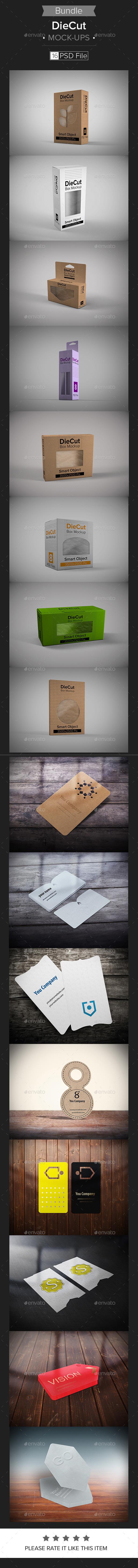 DieCut Mock-Up Bundle - Print Product Mock-Ups