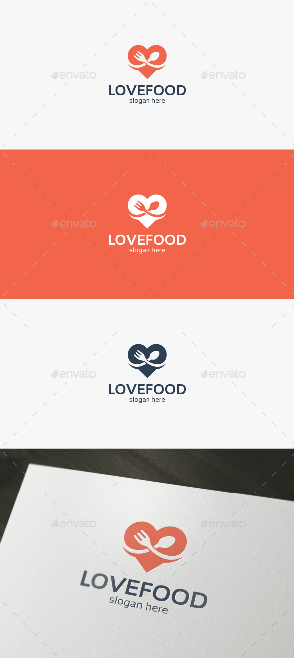 Love Food - Logo Template - Food Logo Templates
