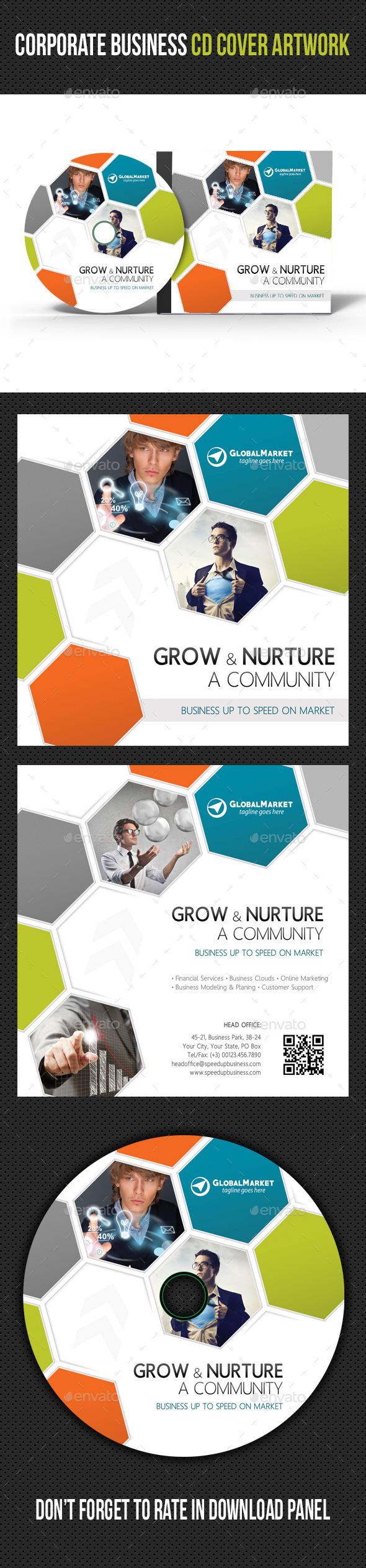 Corporate Business CD Cover Artwork V03 - CD & DVD Artwork Print Templates