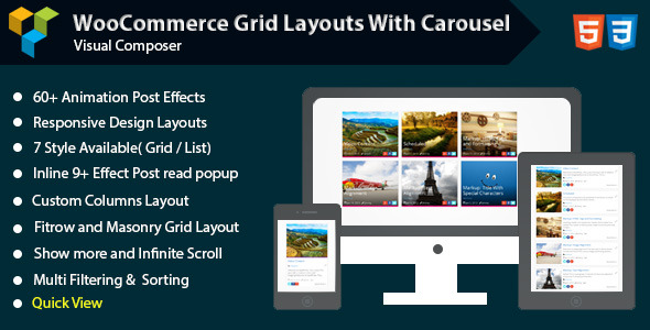Visual Composer Woocommerce Grid with Carousel