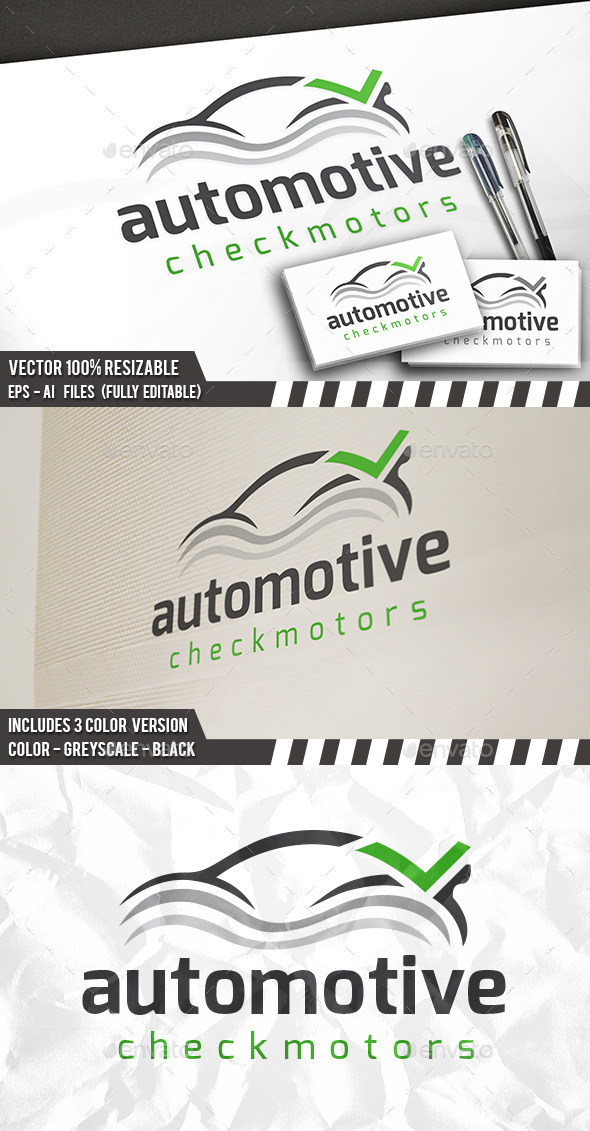 Car Check Logo - Objects Logo Templates
