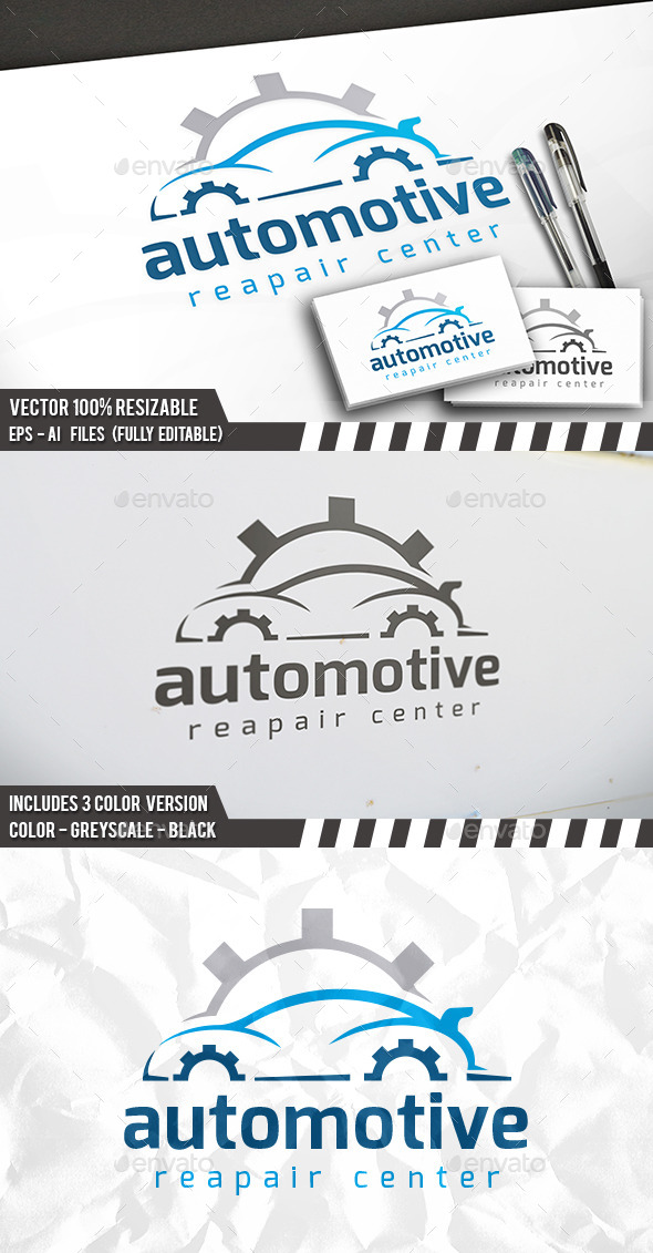 Car Repair Logo - Objects Logo Templates