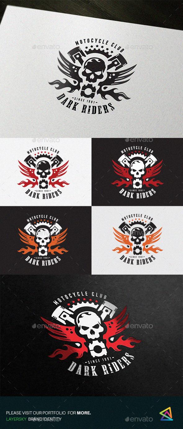 Dark Rider - Crests Logo Templates