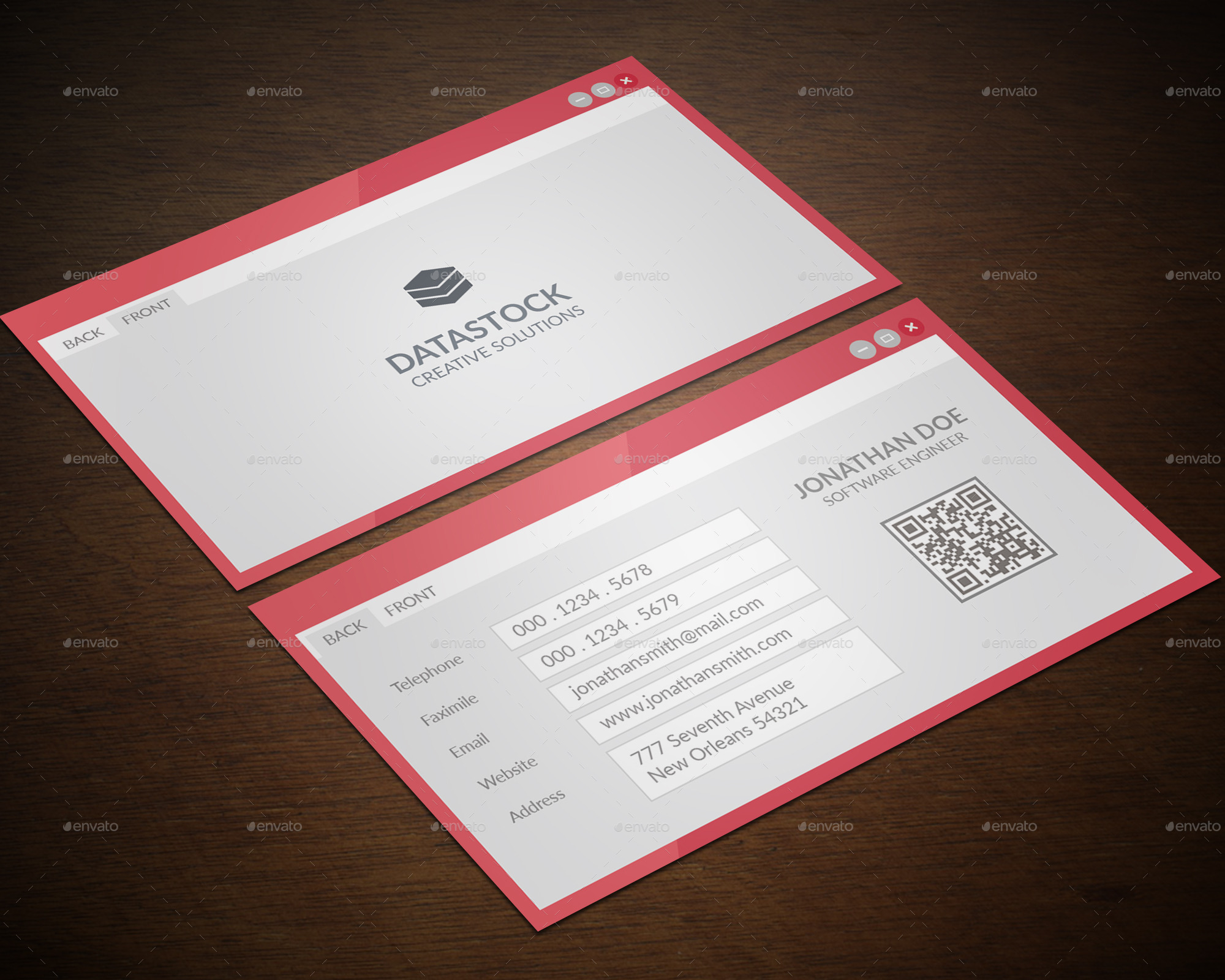 software engineer business card by gowes