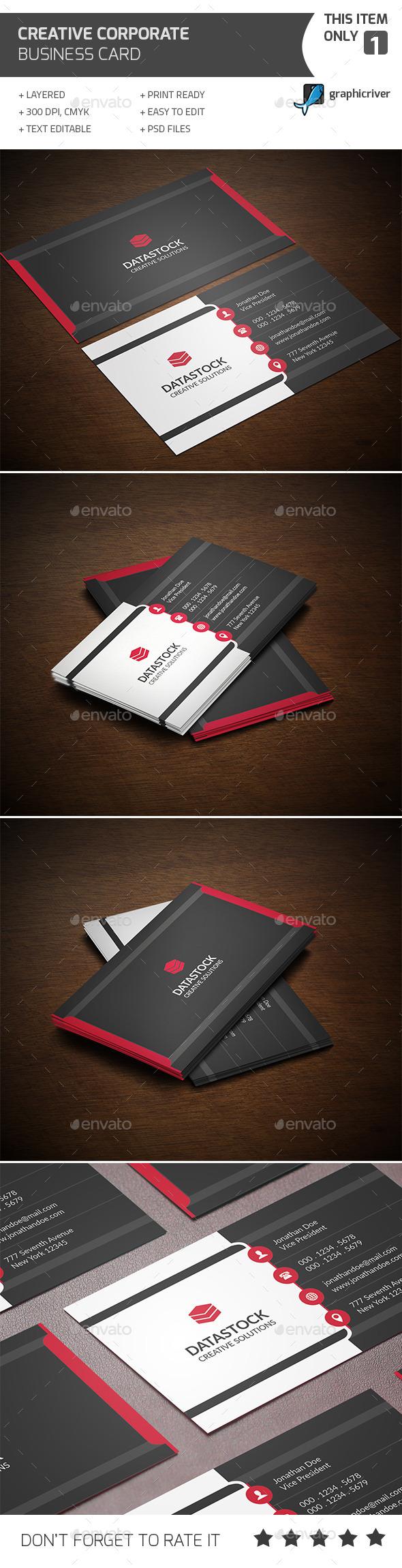 Creative Corporate Business Card - Corporate Business Cards