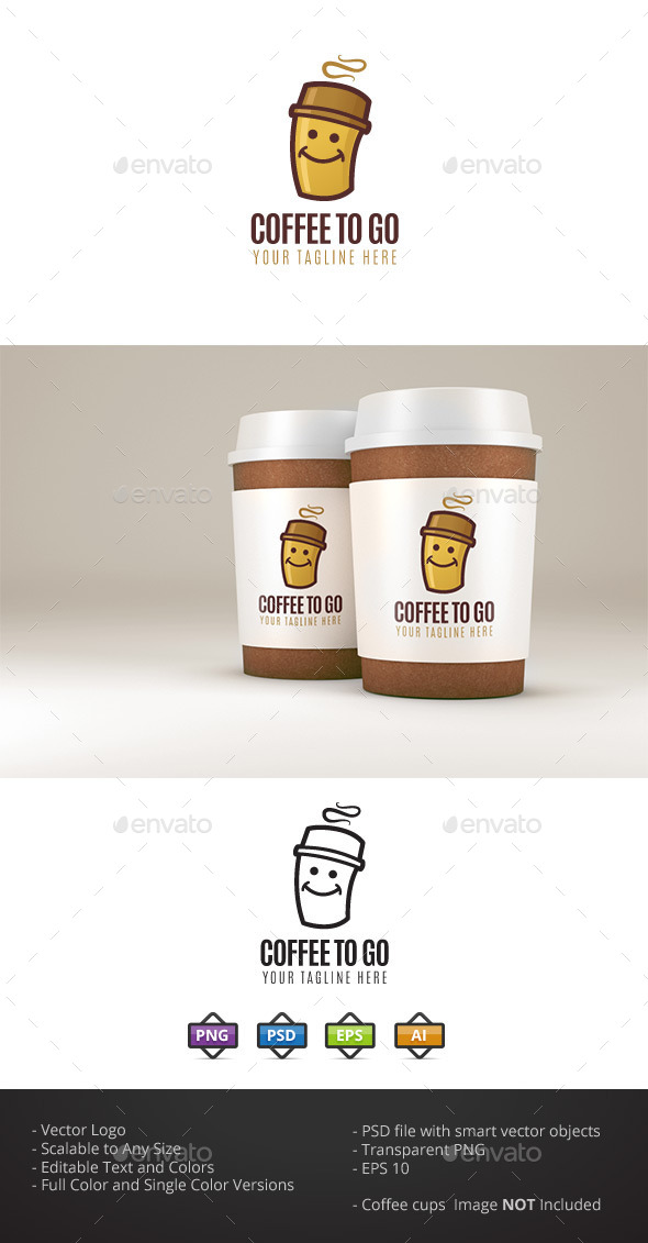 Coffee to Go - Food Logo Templates