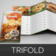 Food Restaurant Trifold Brochure InDesign Template - GraphicRiver Item for Sale