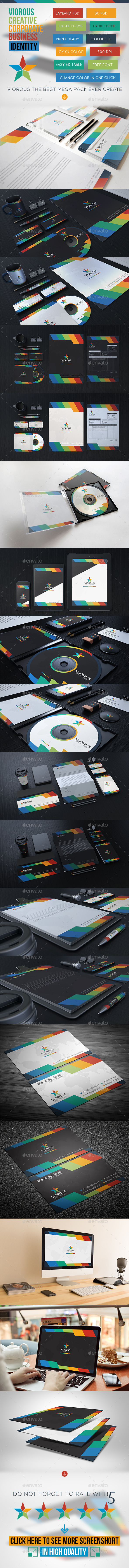 Viorous Corporate Stationary Identity - Stationery Print Templates