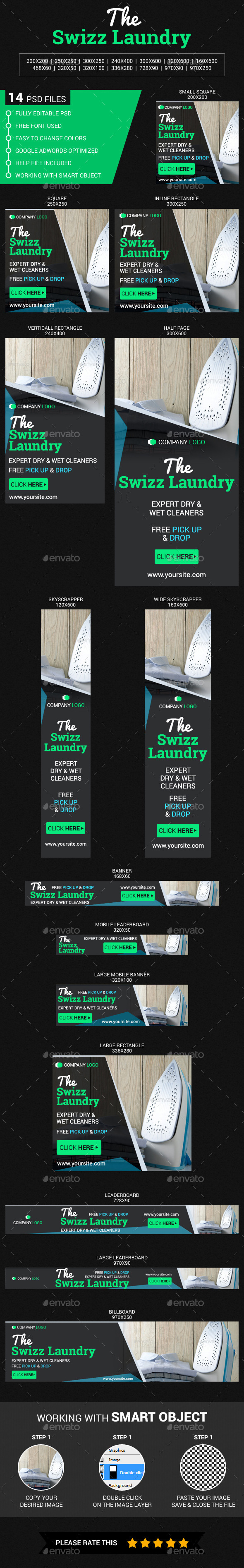 Laundry - Banners & Ads Web Elements