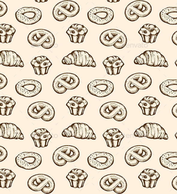 Bakery Seamless Pattern - Patterns Decorative
