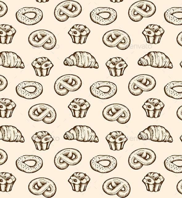 Bakery Seamless Pattern - Patterns Decorative