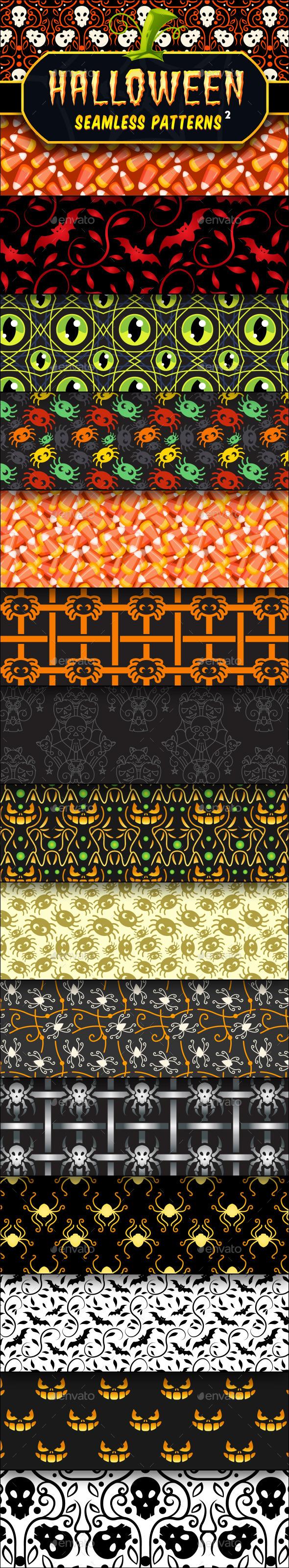 Halloween Seamless Patterns Set 2 - Halloween Seasons/Holidays
