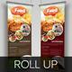 Food Restaurant Roll Up Banner Signage Template - GraphicRiver Item for Sale