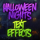 5 Halloween Nights Text Effects Vol. 1 - GraphicRiver Item for Sale