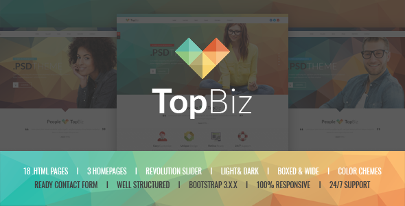 TopBiz – Responsive Corporate HTML5 Template