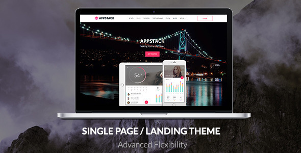 AppStack – One Page App Theme