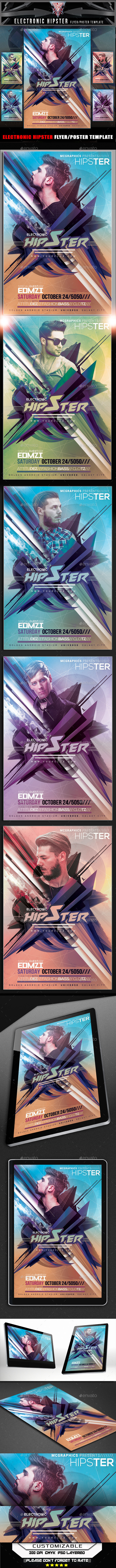 Electronic Hipster Flyer Template