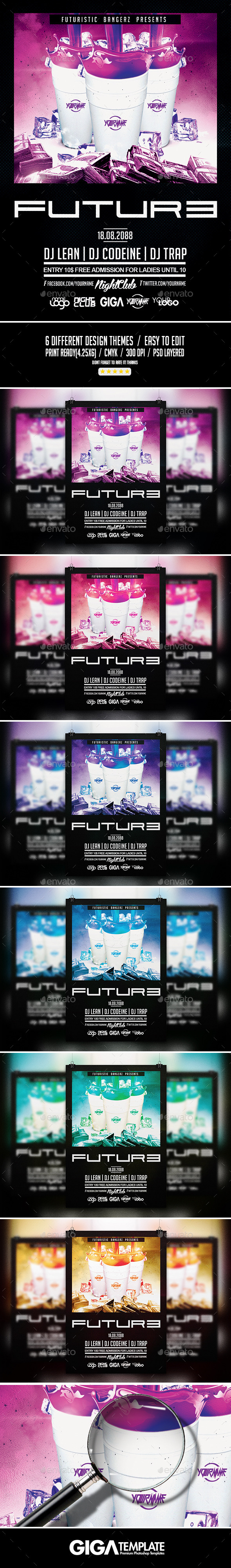Future Drink Party | Hip-Hop Flyer PSD Template - Events Flyers