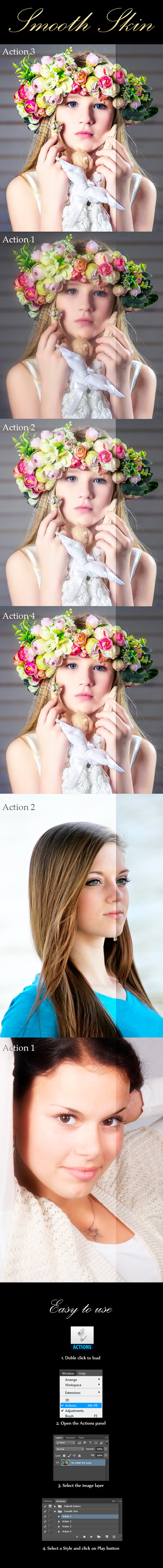 Smooth Skin (4 Actions) - Photo Effects Actions