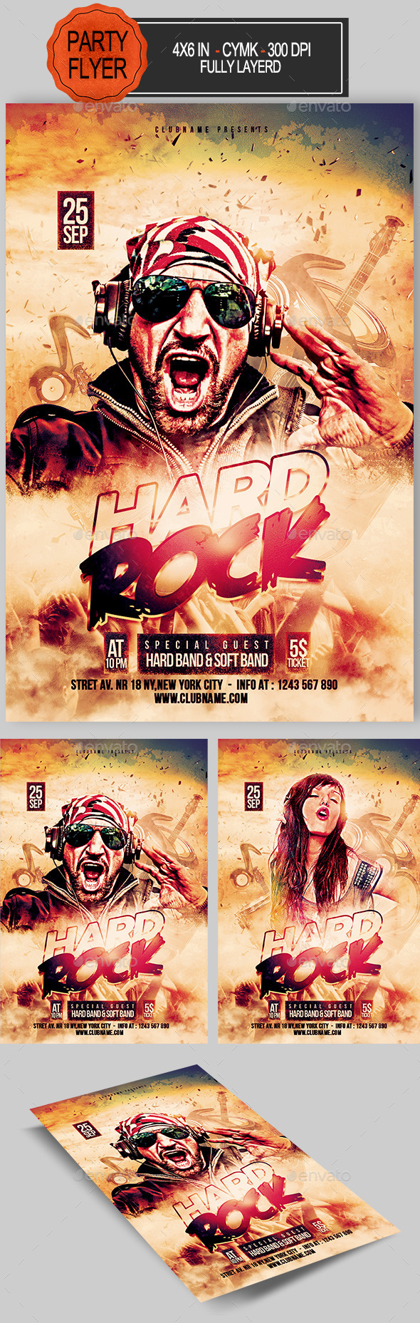 Hard Rock Flyer - Concerts Events