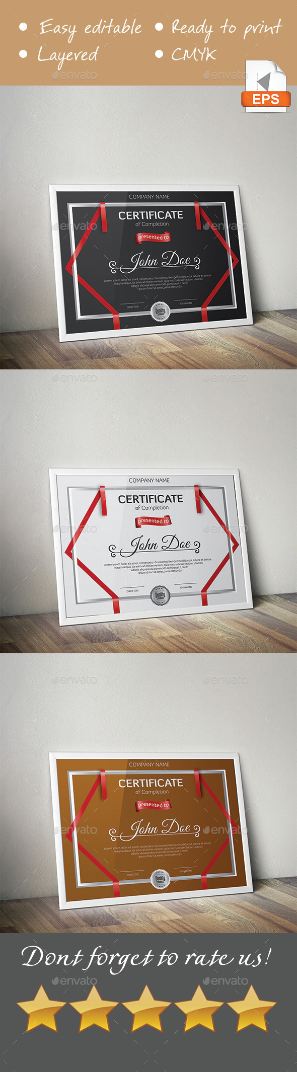Multipurpose Certificate - Certificates Stationery