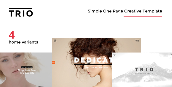 TRIO – Simple One Page Creative Drupal Theme