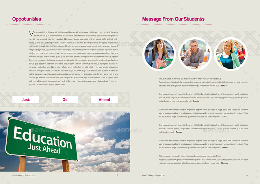 Student Vs College - Prospectus By Shemul | Graphicriver