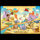 Savannah animal family with background - GraphicRiver Item for Sale