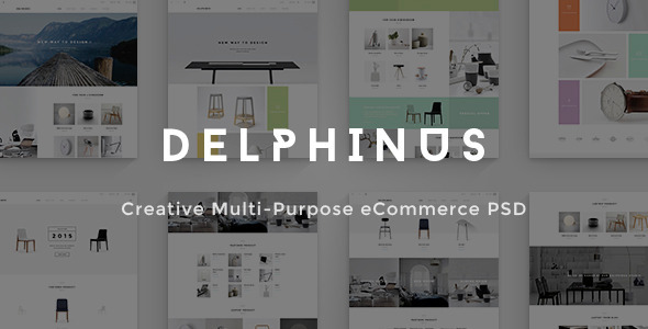 Delphinus – Creative eCommerce PSD template