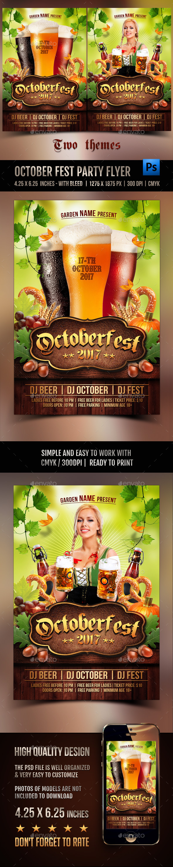 Octoberfest Party Flyer - Events Flyers