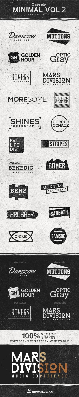 Minimal Logo/Badge Collection Vol.2 - Badges & Stickers Web Elements