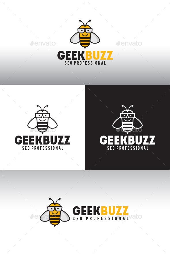 Bee Geek Logo Template - Animals Logo Templates