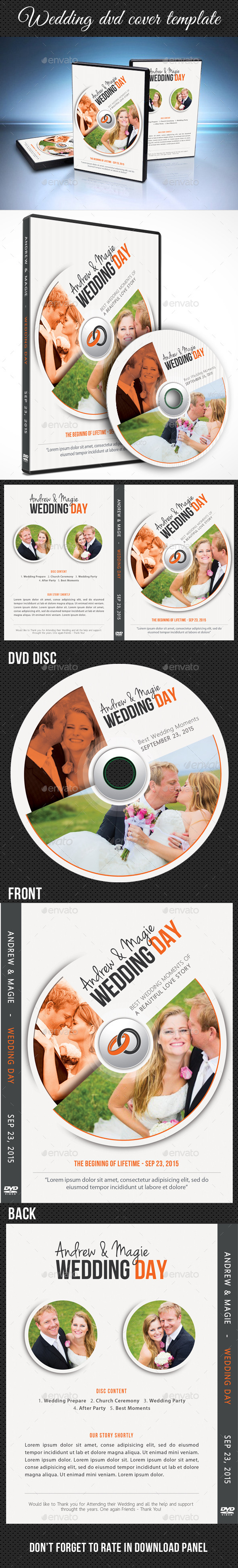 Wedding DVD Cover Template 13