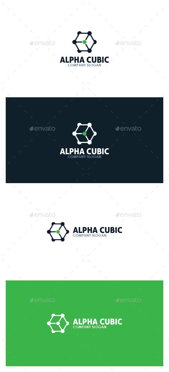 Alpha Cubic Logo - Symbols Logo Templates